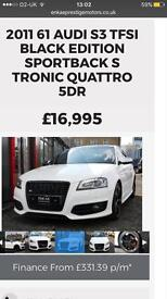 AUDI S3 black edition FASH PAN ROOF 61REG IMMACULATE.