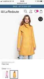 Yellow Winter coat never worn RRP £89 size 6/8