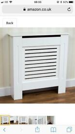 White Modern Painted MDF radiator Cabinet, Small