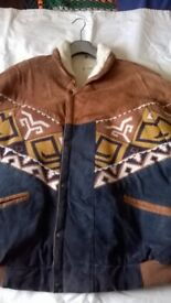 MENS AZTEC STYLE 100% SUEDE JACKET
