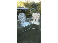 Pair of Vintage Folding Deck Chairs