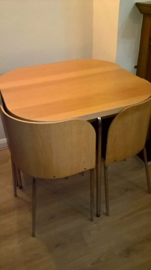 Compact Space Saving Dining Table And Chairs Ikea Fusion In Beverley East Yorkshire Gumtree