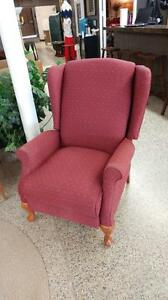 Beauitul Red Wing Back Recliner