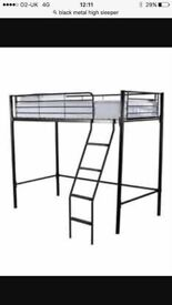 Single metal high bed