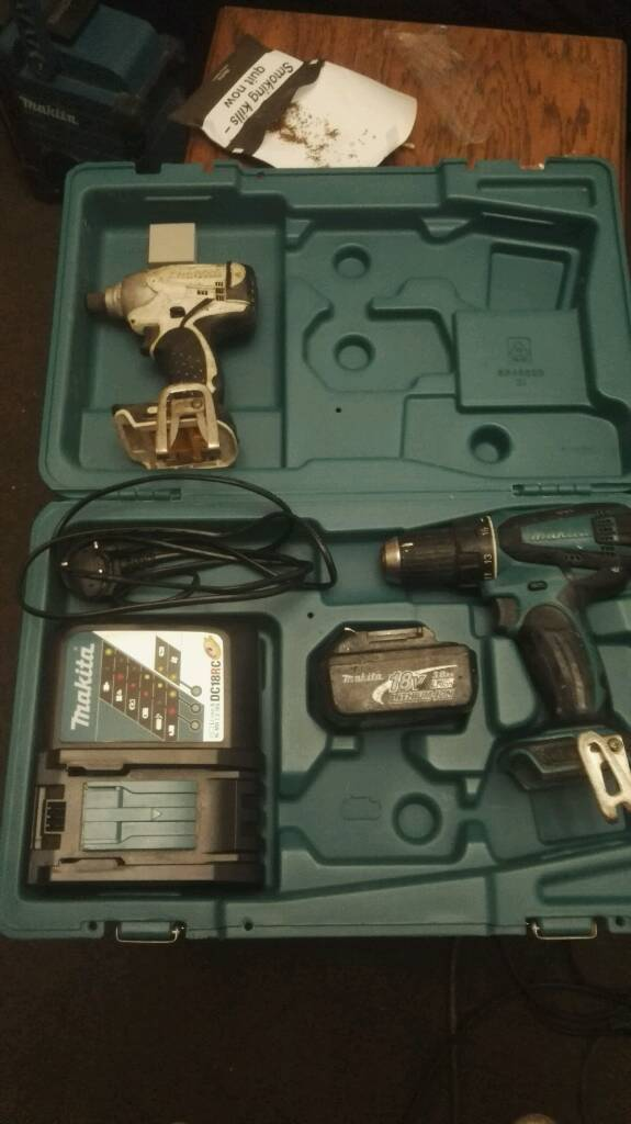 Makita impact, combi battery charger & carry case no offers