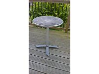 free wooden and metal garden table