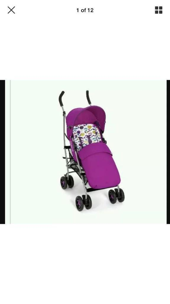 Mamas And Papas Purple Swirl Pushchair Stroller In Good Used Condition In Exeter