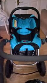Isafe pram and car seat for sale