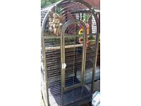 BIG BLACK BIRD CAGE FOR SALE