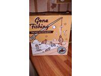 Gone fishing bath tub game
