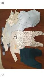 Baby boy bundle, newborn -3 months clothes