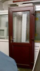 upvc door with frame 34 inches wide x 81 inches high in good condition call 07498143887