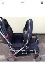 Sefety 1st double pram with rain cover