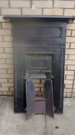 """""""SOLD"""" - Cast Iron Fireplace"""