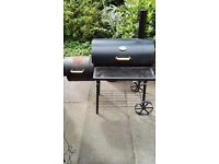 Barrel BBQ Barbecue Smoker Summer Cooking Grill By Azuma - 125cm x 70cm 134cm