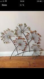Decorative metal wall hanging