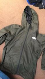 Men's North face light weight jacket khaki green