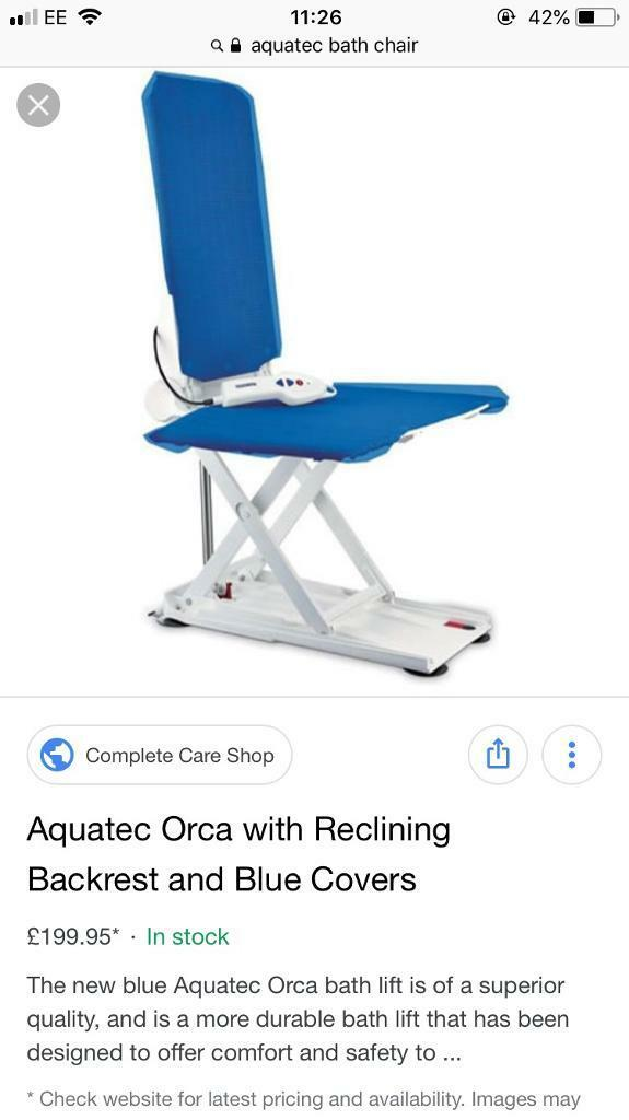 Aquatec Orca with Reclining Backrest Bath lift chair | in ...