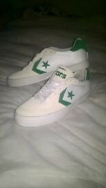 mens converse trainers white cream and beige part suede no marks like new size 10 uk