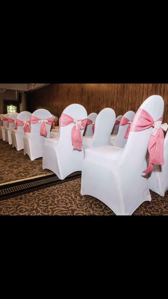 Admirable 100 White Wedding Lycra Chair Covers In Stenhousemuir Falkirk Gumtree Machost Co Dining Chair Design Ideas Machostcouk