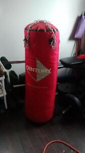 Boxing Bag, boxing gloves, hand wraps