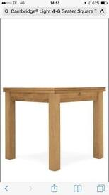 Next Cambridge Light 4-6 Seater Square To Rectangle Dining Table