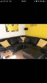 5 seater corner sofa with large foot stool