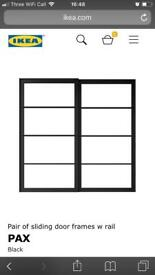 IKEA Pax Sliding Door Frames and Paintable Panels