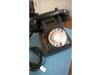 Antique bakelite telephone