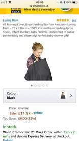 Loving Mum Nursing Cover Black
