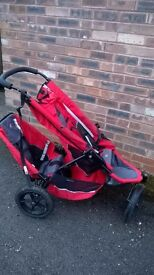 Phil and Teds double pushchair, well used but still works. £20