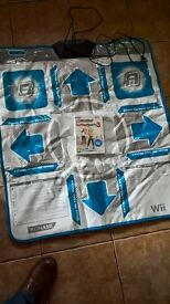 Wii dance pad & game