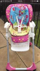 Chicco multi position and height high chair