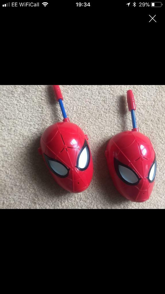 Various kids toys clock Spider-Man projector game