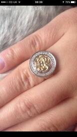 Gold Versace diamond ring