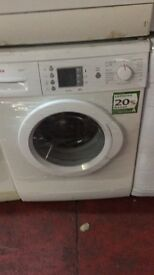 nice white bosch washing machine in Spanish it's s 7kg 1200 spin in excellent condition