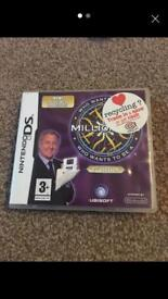Who wants to be a millionaire Nintendo DS Game