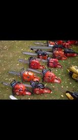 Wanted chainsaws all shapes and sizes