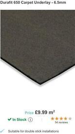 Carpet UNDERLAY crumb rubber 6.5mm