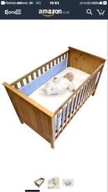 Safe dreams blue cot wrap