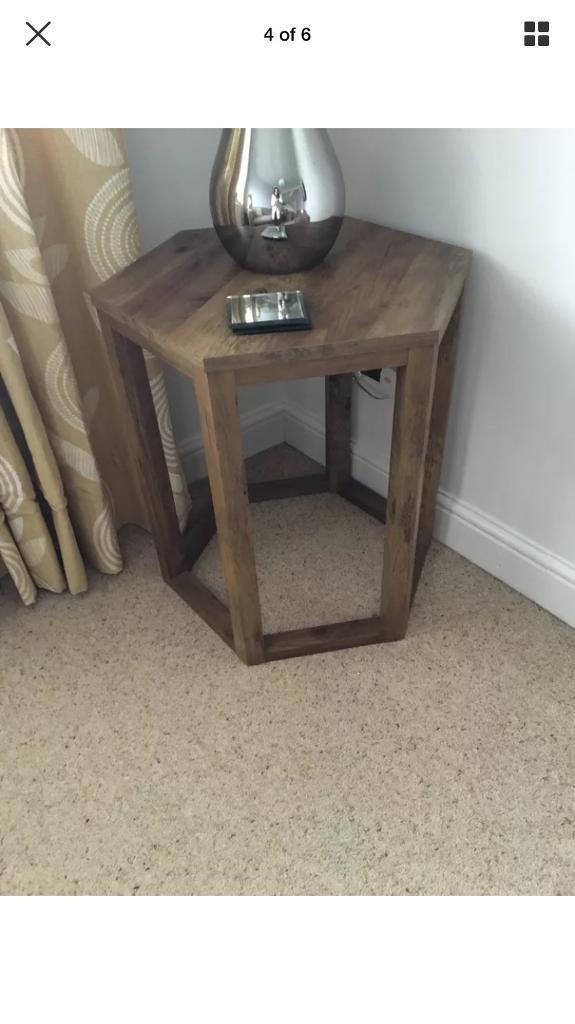 Next Chiltern Rustic Oak Side Table