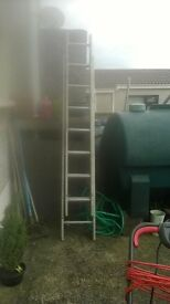 extendable steel ladders good condition