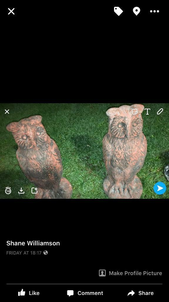 Owls garden ornaments