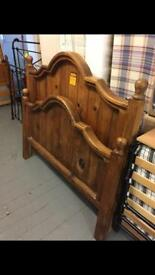 Double hardwood bed frame only £175ono