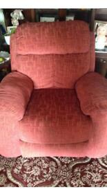 Electric recliner in material