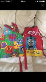 Two x Thomas the tank engine aprons