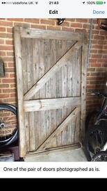 Barn doors for DIY refurb oroject