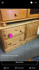 Solid pine sideboard tv/hifi cabinet only £75ono