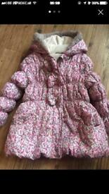 Girls 3-4 years pretty winter jacket George