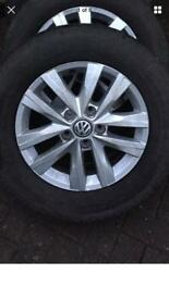 VW transporter T6 genuine alloys tyres